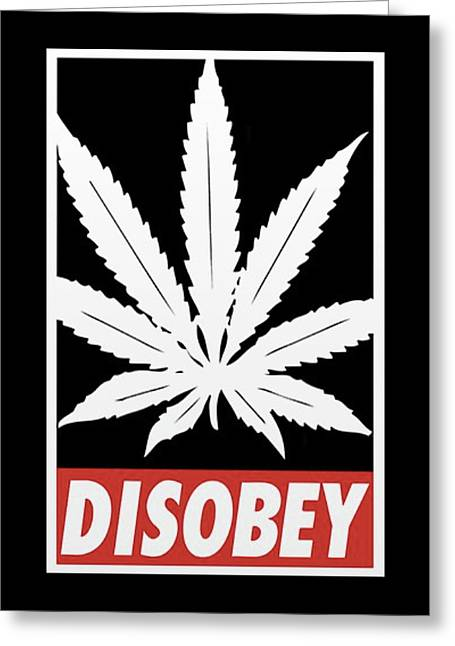 Disobey Greeting Card by Jacques Dupont