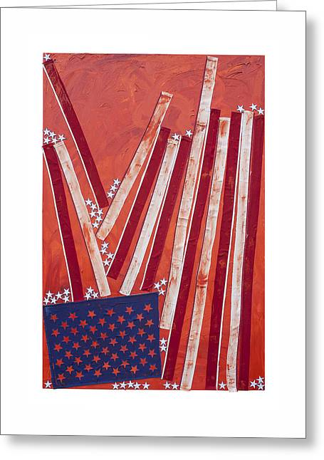 Civil Liberties Paintings Greeting Cards - Dissecting Union v. Liberty Greeting Card by Steve Hartman