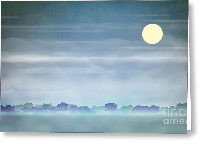 Haze Greeting Cards - Distant Blue Haze Greeting Card by Bedros Awak