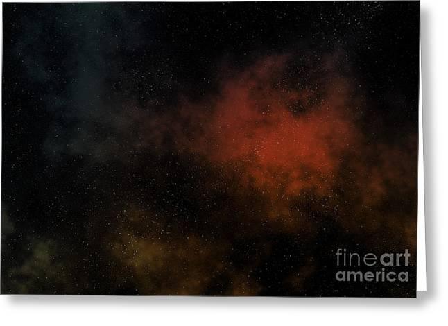 Distant Nebula Greeting Card by Michal Boubin
