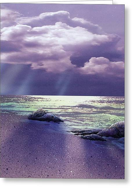 Distant Rain Greeting Card by Ken Shotwell