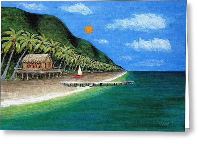 Distant Shores Greeting Card by Gordon Beck