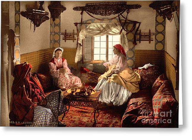 Distinguished Greeting Cards - Distinguished Moorish women Greeting Card by Celestial Images