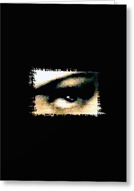 Eyebrow Greeting Cards - Distorted the darkness Greeting Card by Frances Lewis