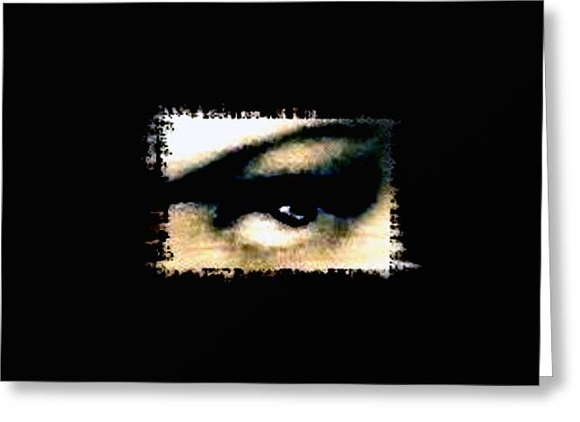 Eyelash Greeting Cards - Distorted the darkness Greeting Card by Frances Lewis