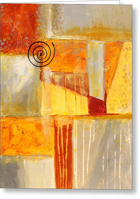 Dribble Greeting Cards - Distractions 2 Abstract Painting Greeting Card by Nancy Merkle