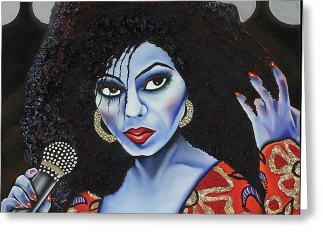 Diva Diana Greeting Card by Nannette Harris