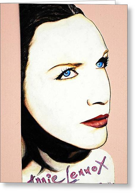 Annie Lennox Greeting Cards - Diva Greeting Card by Joseph Lawrence Vasile