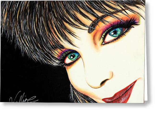 Diva Nasty Greeting Card by Joseph Lawrence Vasile