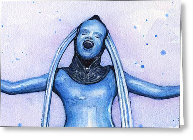 Diva Plavalaguna Fifth Element Greeting Card by Olga Shvartsur