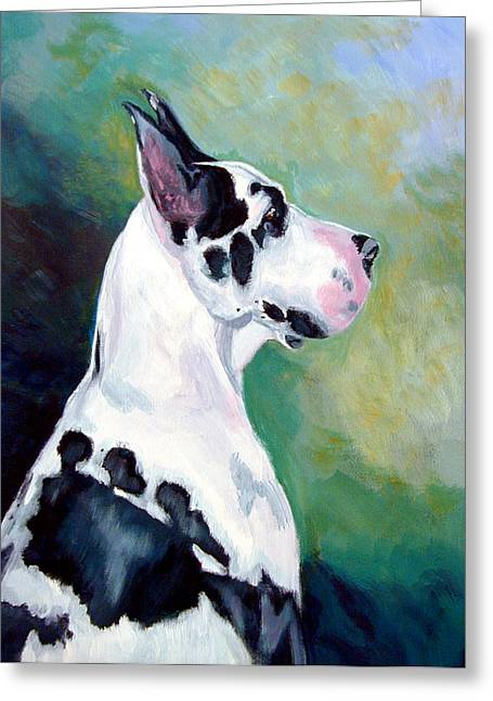 Dane Greeting Cards - Diva the Great Dane Greeting Card by Lyn Cook