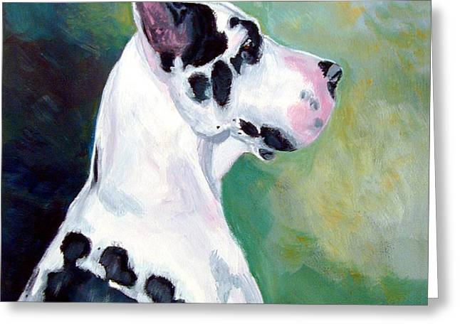 Diva the Great Dane Greeting Card by Lyn Cook