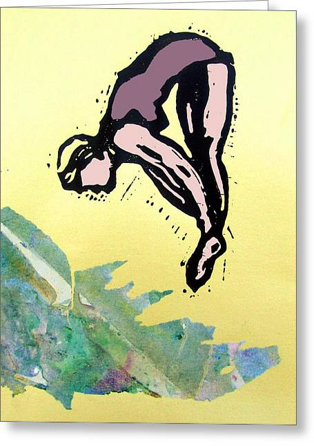 Recently Sold -  - Adam Kissel Greeting Cards - Dive - Into Morning Waves Greeting Card by Adam Kissel