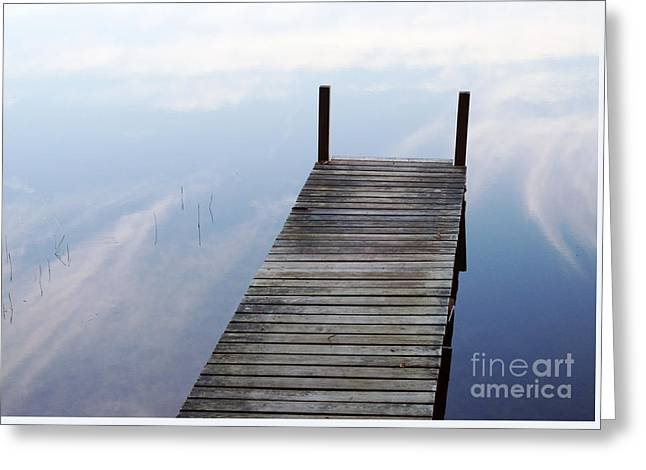 Reflecting Water Greeting Cards - Dive Into The Sky Greeting Card by Georgia Sheron