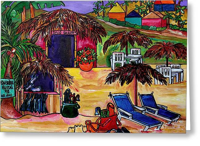 Dive Shack Greeting Card by Patti Schermerhorn