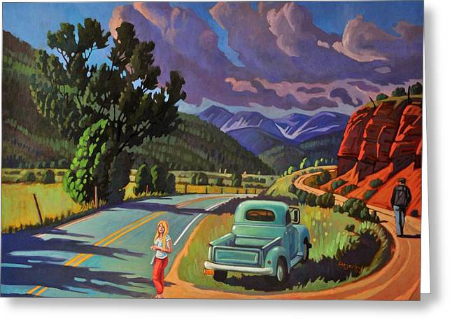 Intrigue Greeting Cards - Divergent Paths Greeting Card by Art West