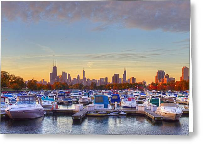 Diversey Harbor Greeting Card by Twenty Two North Photography