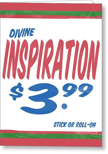 Supermarket Greeting Cards - Divine Inspiration Supermarket Series Greeting Card by Edward Fielding