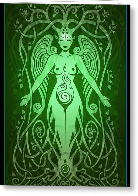 Sacred Digital Art Greeting Cards - Divine Life Greeting Card by Cristina McAllister