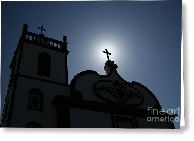 Divine Light Greeting Card by Gaspar Avila