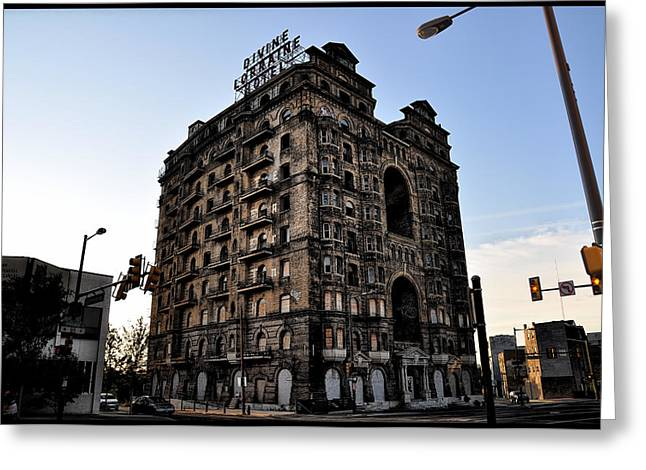 Broad Street Digital Art Greeting Cards - Divine Lorraine Hotel Greeting Card by Bill Cannon