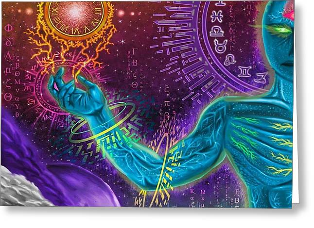 Zodiac Ring Greeting Cards - Divine Spirit Greeting Card by Juan Carlos Valenzuela