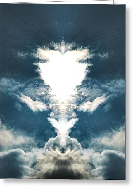 Angels Breath Greeting Cards - Divine  Greeting Card by Thomas  MacPherson Jr