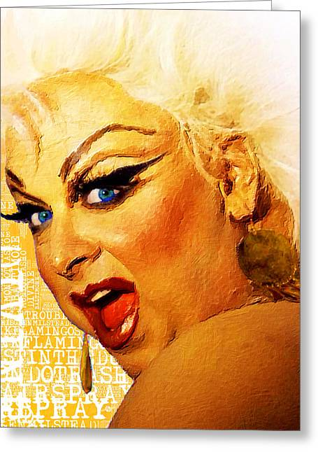 Polyester-film Greeting Cards - Divine Greeting Card by Tony Rubino