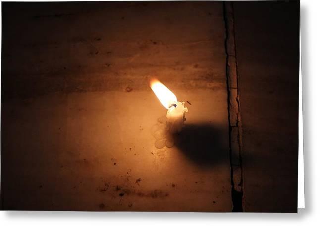 Diwali Candle, Vrindavan Greeting Card by Jennifer Mazzucco