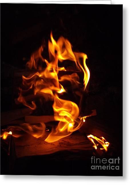 Djinn Fire Spirit Greeting Card by Oberon   Ahura Star
