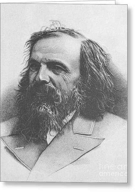 Best Sellers -  - 1907 Greeting Cards - Dmitri Mendeleev, Russian Chemist Greeting Card by Science Source