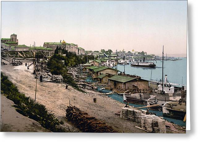 Kyiv Greeting Cards - Dnieper River - Kiev - Ukraine - ca 1900 Greeting Card by Dnieper RiverInternational  Images