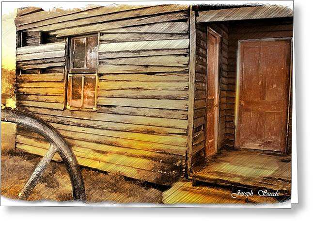 Old House Photographs Digital Greeting Cards - DO-00040 Old House Front Greeting Card by Digital Oil