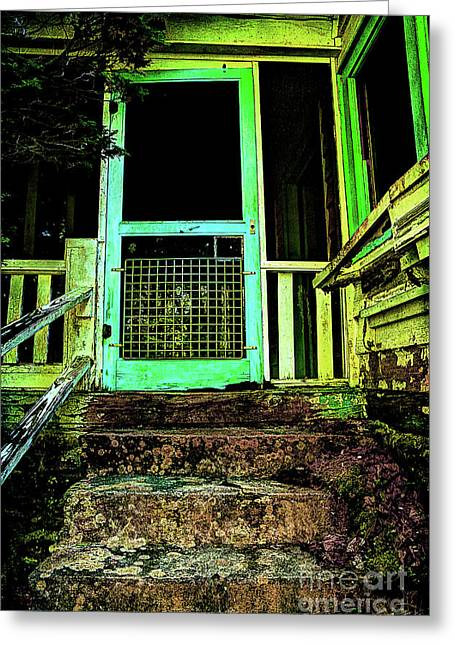 Abandoned Houses Greeting Cards - Do Any Spirits Still Live Here Greeting Card by Michael Eingle