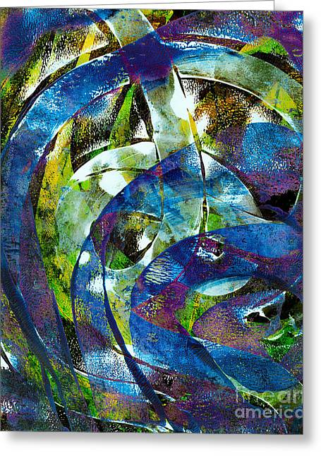 Abstract Digital Mixed Media Greeting Cards - Do it Again Greeting Card by Laura L Leatherwood