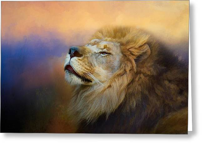 Lions Greeting Cards - Do Lions Go To Heaven? Greeting Card by Jai Johnson