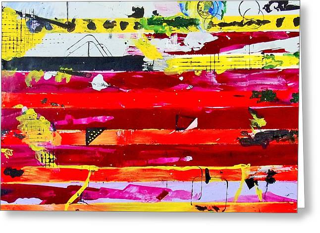 Abstract Expression Greeting Cards - Do Not Bend  Greeting Card by Michael Dillon