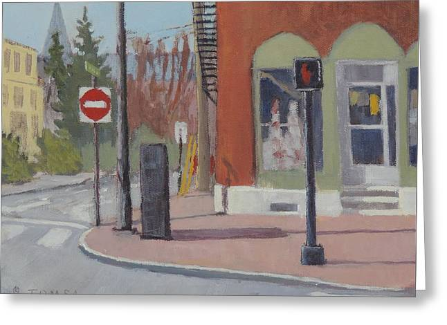 Crosswalk Greeting Cards - Do Not Enter Do Not Walk Greeting Card by Bill Tomsa