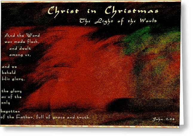 Do You See Christ In Christmas Greeting Card by Terry Wallace