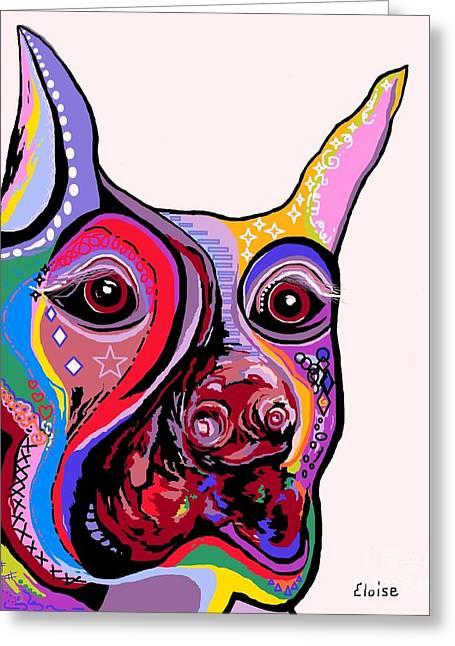 Doberman Pinscher Puppy Greeting Cards - Doberman Greeting Card by Eloise Schneider