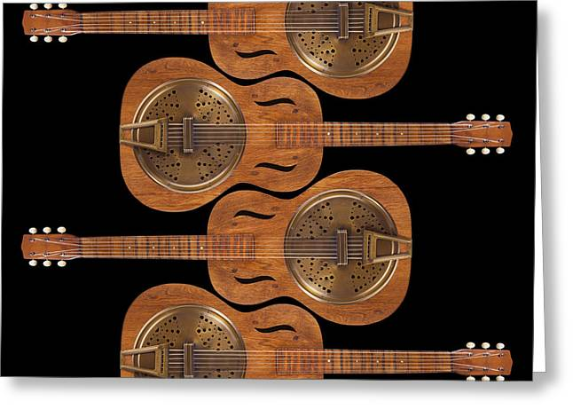 Hand Made Greeting Cards - Dobro 5 Greeting Card by Mike McGlothlen