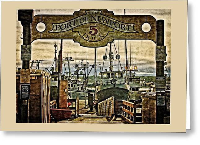 Fishing Boats Greeting Cards - Dock 5 Greeting Card by Thom Zehrfeld