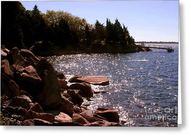 New England Photographs Greeting Cards - dock at Mount Hope Farm Bristol Rhode Island Greeting Card by Tom Prendergast