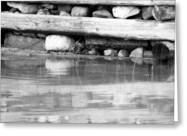 Wooden Dock Greeting Cards - Dock Cribs  Greeting Card by Cathy  Beharriell