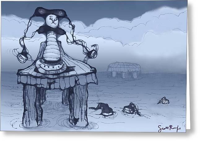 Dock Jester Greeting Card by Scott Rolfe