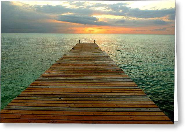 Montego Bay Greeting Cards - Dock of the Bay Greeting Card by Chad Rice