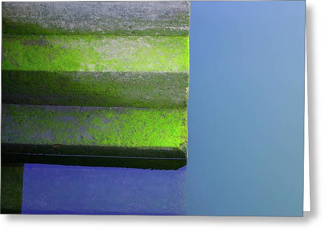 Dock Stairs Greeting Card by Carlos Caetano