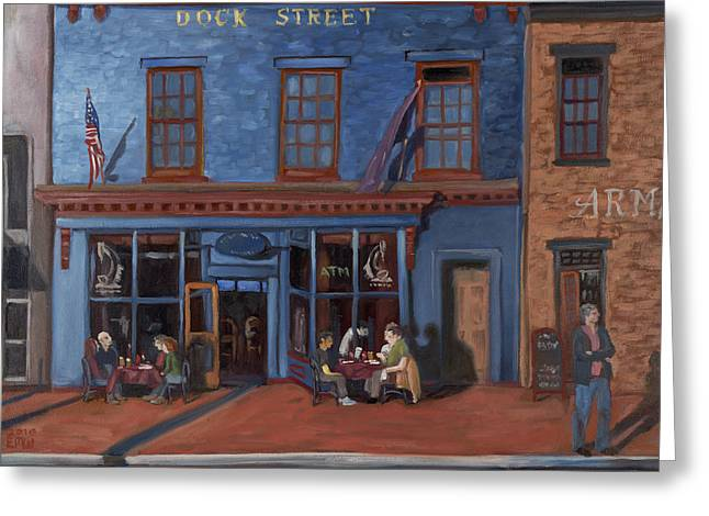 Edward Williams Greeting Cards - Dock Street-Annapolis Greeting Card by Edward Williams