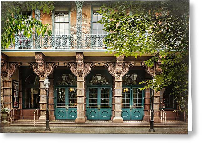 French Doors Greeting Cards - Dock Street Theatre Charleston South Carolina Greeting Card by Melissa Bittinger