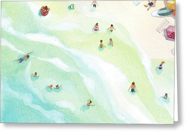 Docking Station Greeting Card by Stephie Jones